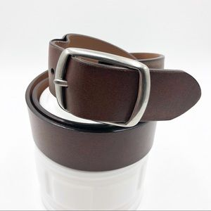 Chaps Mens Belt 38/95 Leather Brown